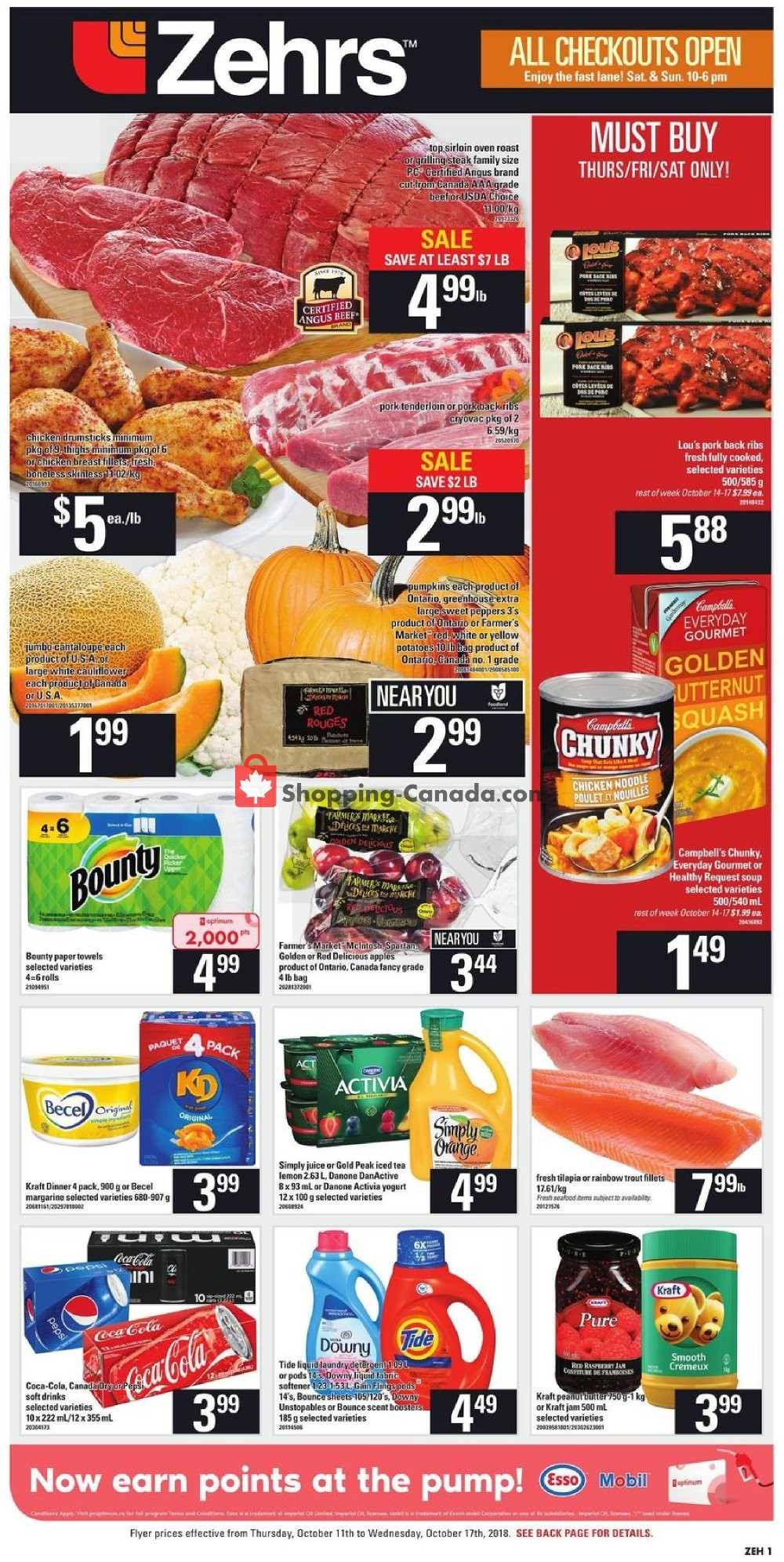 Flyer Zehrs Canada - from Thursday October 11, 2018 to Wednesday October 17, 2018