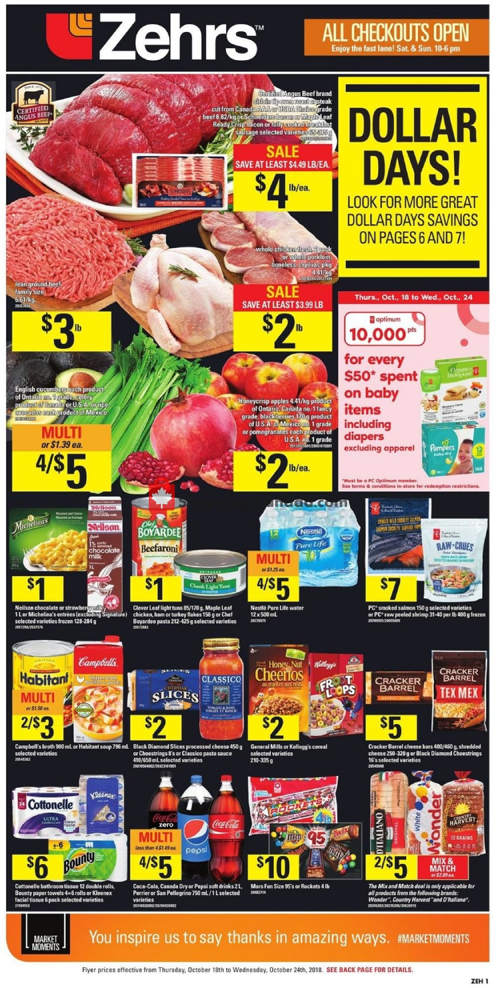 Flyer Zehrs Canada - from Thursday October 18, 2018 to Wednesday October 24, 2018