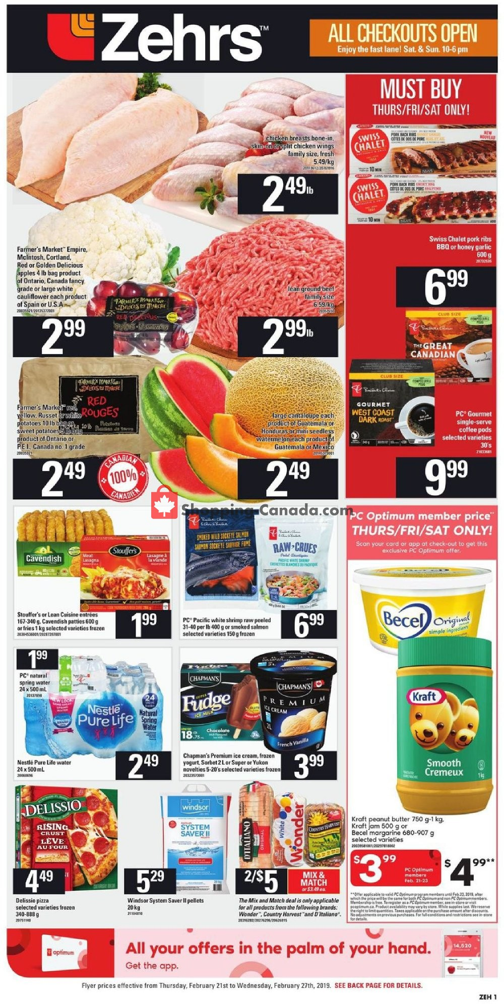 Flyer Zehrs Canada - from Thursday February 21, 2019 to Wednesday February 27, 2019