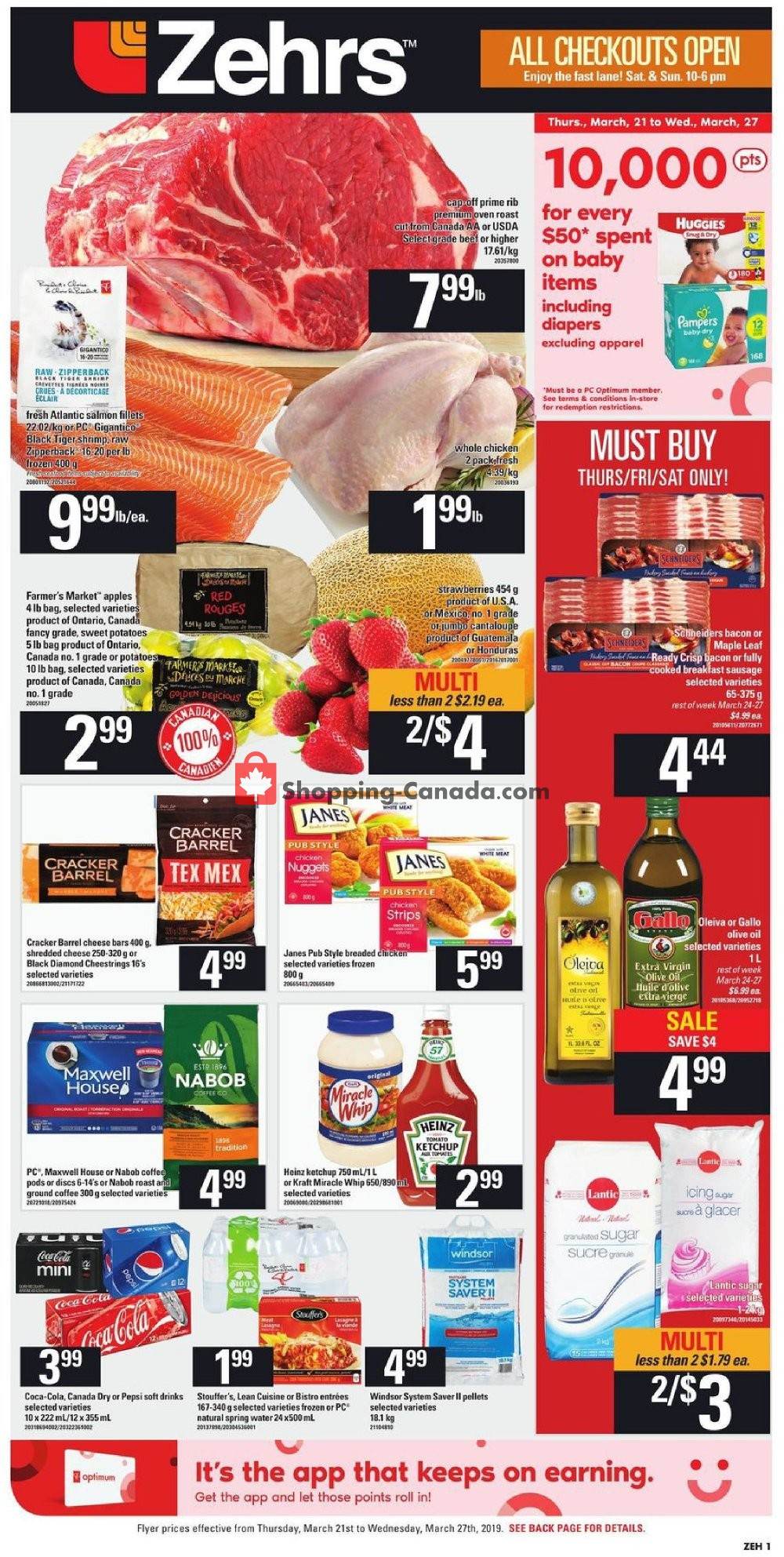 Flyer Zehrs Canada - from Thursday March 21, 2019 to Wednesday March 27, 2019