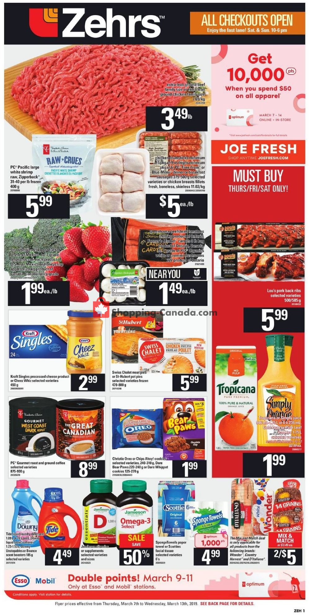 Flyer Zehrs Canada - from Thursday March 7, 2019 to Wednesday March 13, 2019