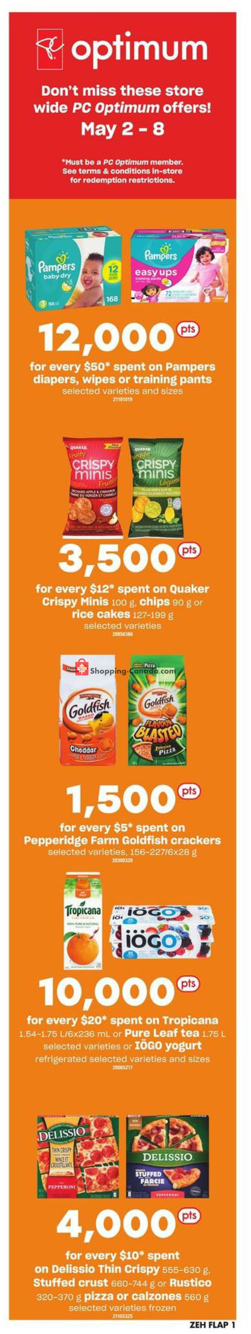 Flyer Zehrs Canada - from Thursday May 2, 2019 to Wednesday May 8, 2019