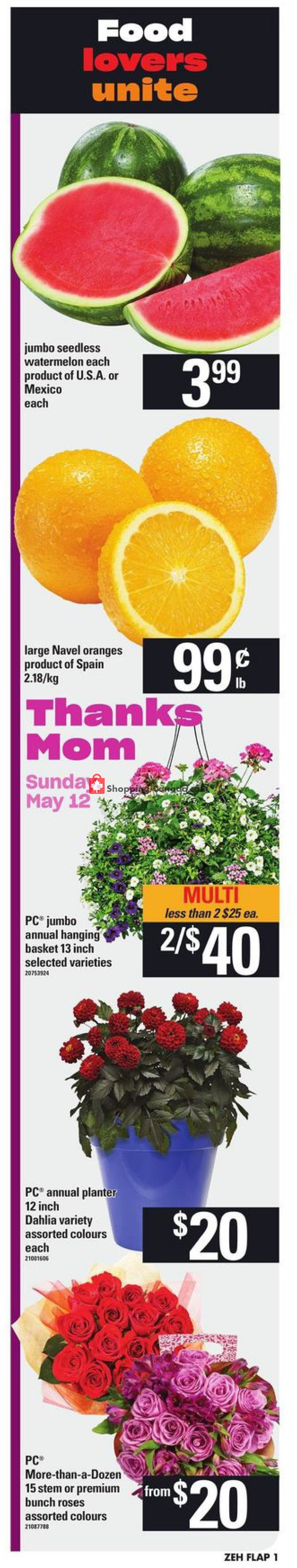 Flyer Zehrs Canada - from Thursday May 9, 2019 to Wednesday May 15, 2019