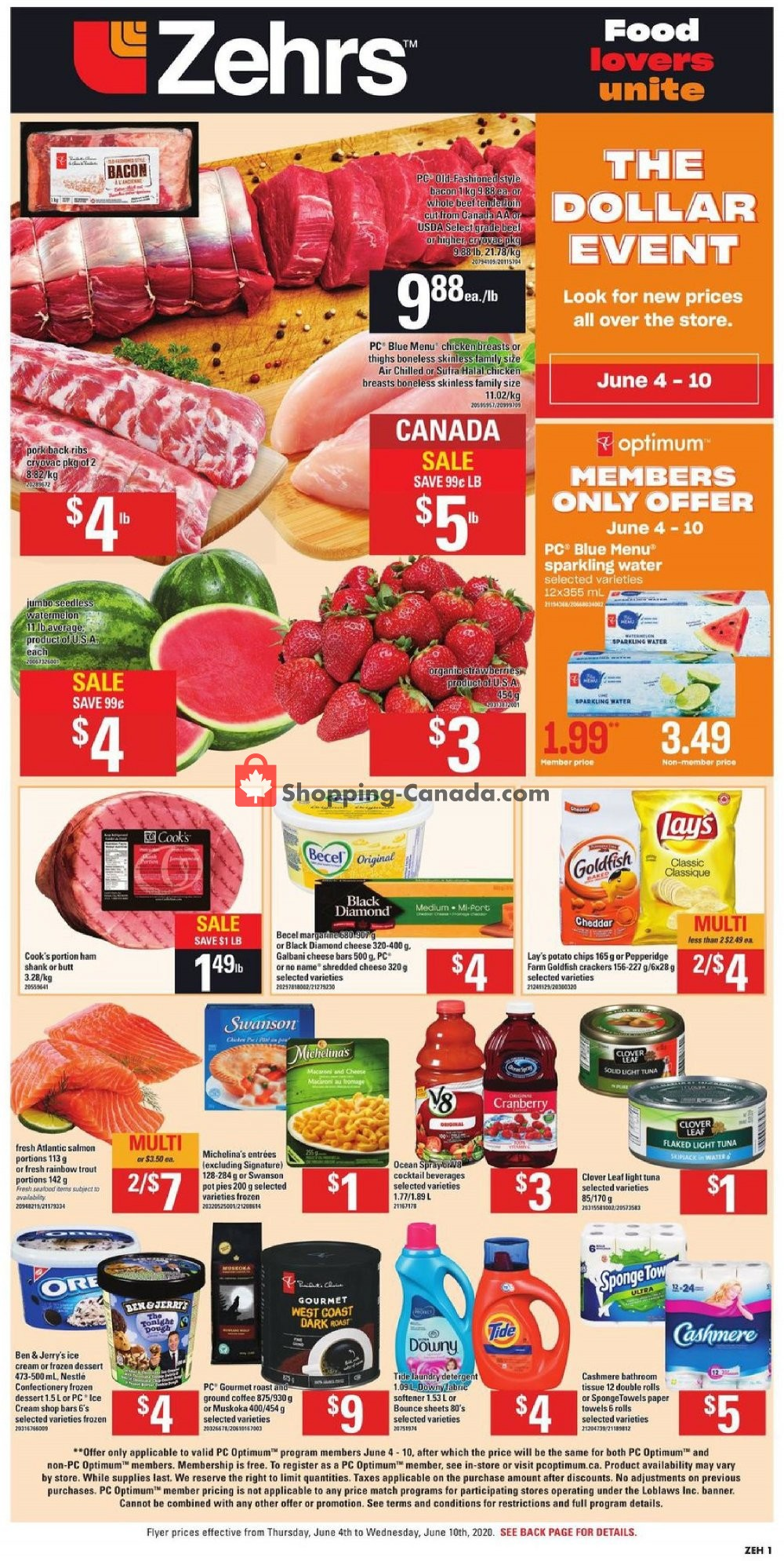 Flyer Zehrs Canada - from Thursday June 4, 2020 to Wednesday June 10, 2020